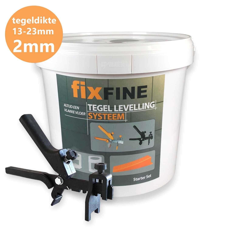 Tegel Levelling Starter Set 2mm – Hoge Clips