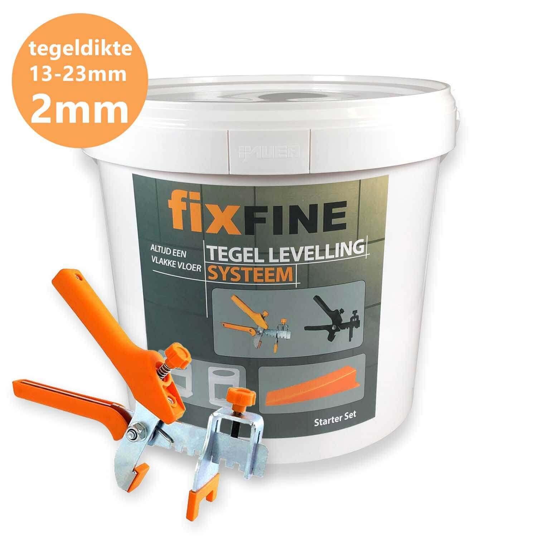 Tegel Levelling Starter Set 2mm PRO – Hoge Clips