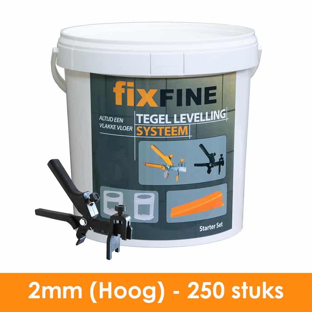 2mm – Tegel Levelling Starter Set (Hoge Clips) – 250 stuks