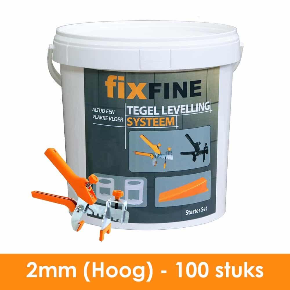 2mm – Tegel Levelling Starter Set PRO (Hoge Clips) – 100 stuks
